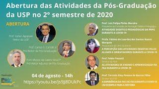 Abertura das Atividades da Pós-Graduação da USP no 2º Semestre de 2020