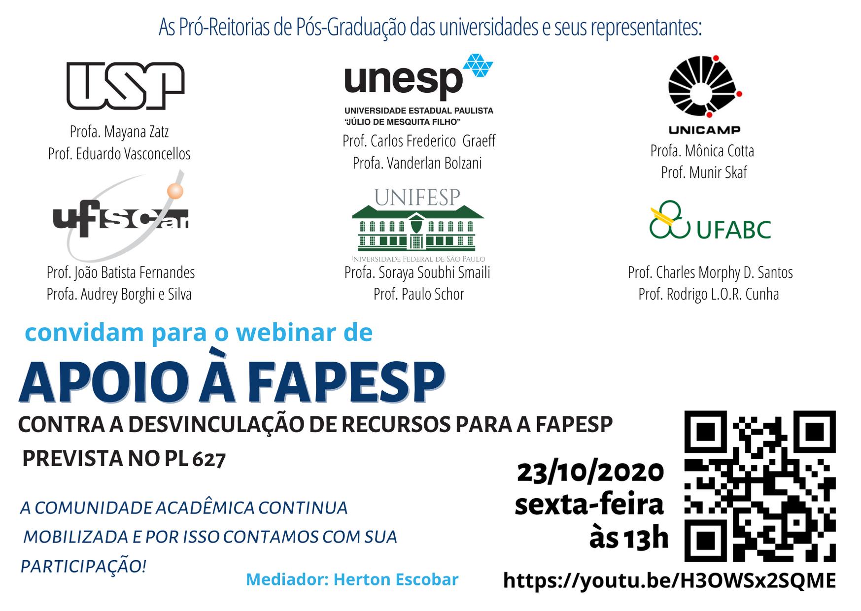 Apoio à FAPESP
